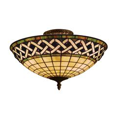 Angel Wing 3 Light Semi Flush In Classic Bronze