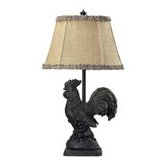 Braysford Rooster Table Lamp in Black