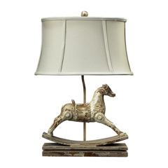 "Dimond 24"" Carnavale Rocking Horse Table Lamp in Clancey Court Finish"