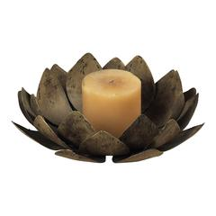 Sterling Lotus Votive