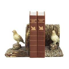 Sterling Pair Woodland Bird Bookends