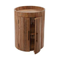 Lazy Susan Drum Bar Table