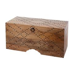 Lazy Susan Plaid Nail Head Chest