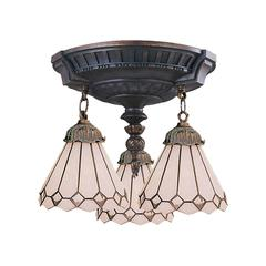 ELK lighting Mix-N-Match 3 Light Semi Flush In Aged Walnut