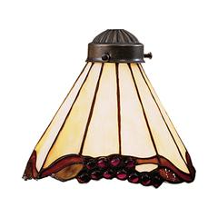 Mix-N-Match 1 Light Stained Honey Dune Glass Shade