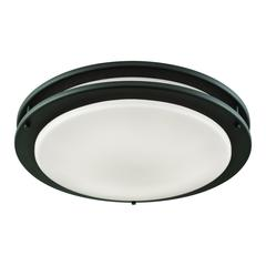 "Clarion 15"" LED Flush In Oil Rubbed Bronze With A White Acrylic Diffuser"