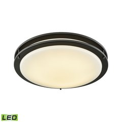 "Clarion 18"" LED Flush In Oil Rubbed Bronze With A White Acrylic Diffuser"