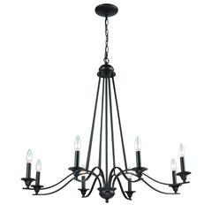 Farmington  8 Light Chandelier In Oil Rubbed Bronze