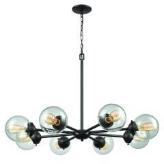 Beckett 8 Light Chandelier In Oil Rubbed Bronze With Clear Glass