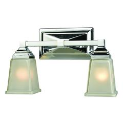Sinclair 2 Light Bath In Polished Chrome With Frosted Glass