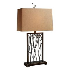 Belvior Park Table Lamp In Aria Bronze And Iron