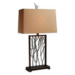 "28"" Belvior Park Table Lamp in Aria Bronze"