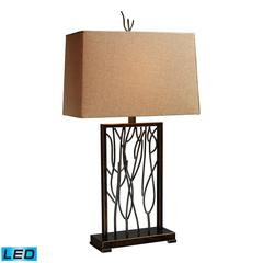 "Dimond 28"" Belvior Park LED Table Lamp in Aria Bronze"