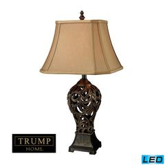 Trump Home Allegra LED Table Lamp in Bronze