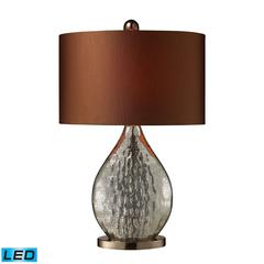 "23"" Sovereign Antique Mercury Glass LED Table Lamp in Coffee Plating"