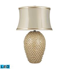 "Dimond 27"" Pineville LED Table Lamp in Pearlescent White"
