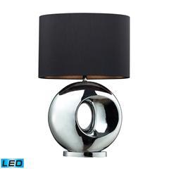 "25"" Tobermore Ceramic LED Table Lamp in Chrome"