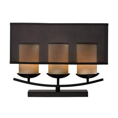 "Dimond 14"" Bakersfield 3-light Candle Lamp in Bronze Paint"