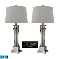 Trump Home Onassis LED Table Lamps in Nickel Finish - Set of 2