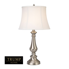 "TRUMP HOME 25"" Fairlawn 2-Pack Table Lamps in Nickel"