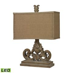 Sutherlin LED Table Lamp in Aged Wood