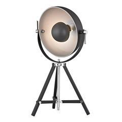 Backstage Adjustable Table Lamp in Matte Black and Polished Nickel