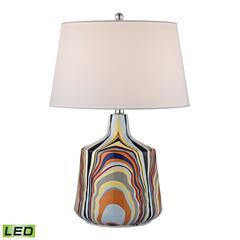 "23"" Technicolor Stripes LED Table Lamp in Multi"