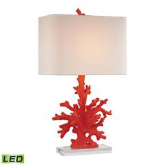 "Dimond 28"" Red Coral LED Table Lamp in Red"