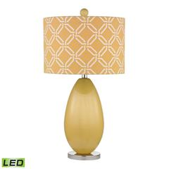 "Dimond 25"" Sevenoakes Glass LED Table Lamp in Sunshine Yellow"