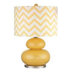 Tavistock Table Lamp In Sunshine Yellow And Polished Nickel