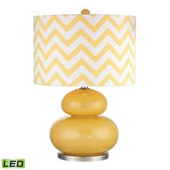 "Dimond 24"" Tavistock Glass LED Table Lamp in Sunshine Yellow"