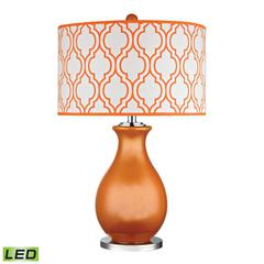 "Dimond 26"" Thatcham Glass LED Table Lamp in  Tangerine Orange"