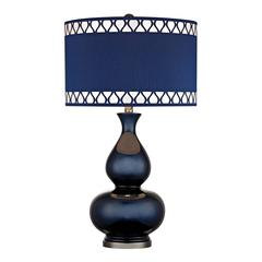 "Dimond 28"" Heathfield Glass Table Lamp in Navy Blue"