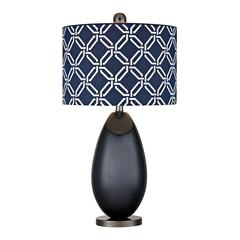"Dimond 25"" Sevenoakes Glass Table Lamp in Navy Blue"