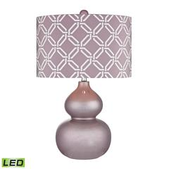 "Dimond 22"" Ivybridge Ceramic LED Table Lamp in Lilac Luster"