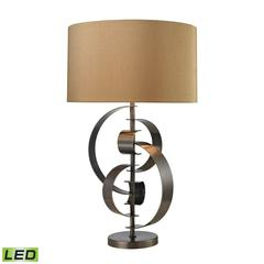"Dimond 30"" Volterra Abstract Curve LED Table Lamp in Dunbrook Bronze"