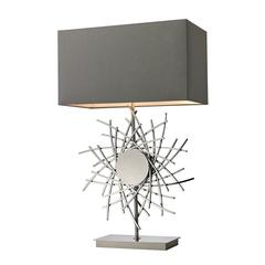 Cesano Abstract Formed Metalwork Table Lamp in Polished Nickel