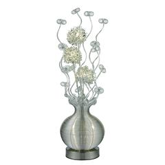"51"" Lazelle LED Floral Display Floor Lamp in Silver"