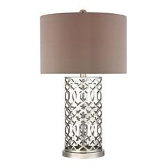 "30"" Laser Cut Metal Table Lamp in Polished Nickel"
