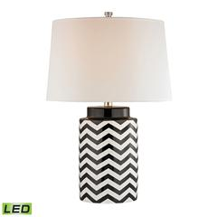 "26"" Chevron LED Table Lamp in Black and White"