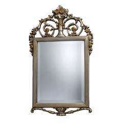 Sterling Stewart Mirror In Antique Silver With Gold