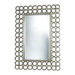 Sterling Parker Mirror In Silver Leaf