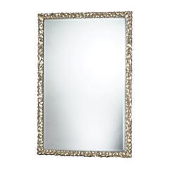 Emery Hill Mirror In Silver Leaf