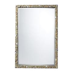 Sterling Monmoth Mirror In A Natural Shell Finish