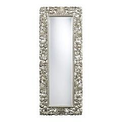 Sterling Talmadge Scroll Frame Mirror In Antique Silver