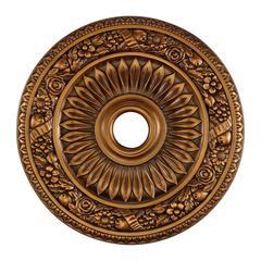 Floral Wreath 24-Inch Medallion In Antique Bronze