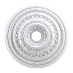 English Study 24-Inch Medallion In White