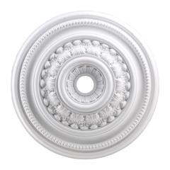 English Study 32-Inch Medallion In White