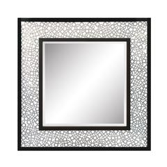 Mirror Masters Frame Is Constructed Of Hundreds Of Antique Silver Metal Washers