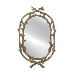 Mirror Masters Intertwined Twig Mirror with Organic Appeal
